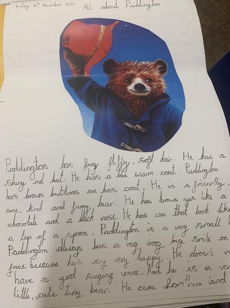 Paddington bear writing