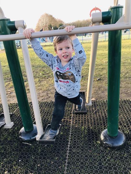 Alfie keeping active outdoors