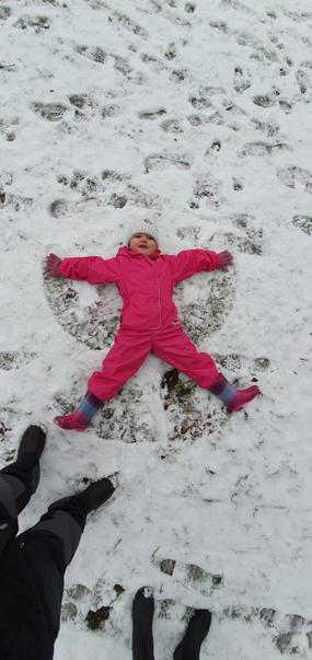 Scarlett's snow angel