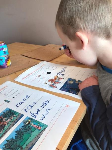 Booby's super writing