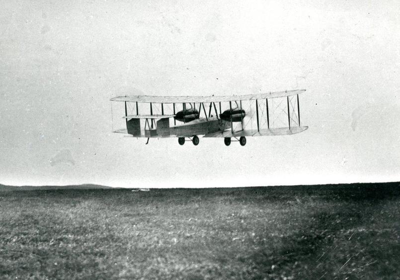 The aeroplane flying.