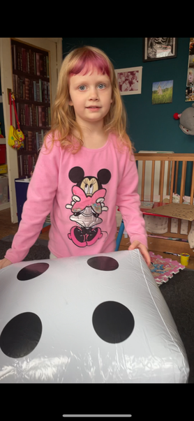 Maths fun with enormous dice