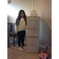Lily's model of Big Ben