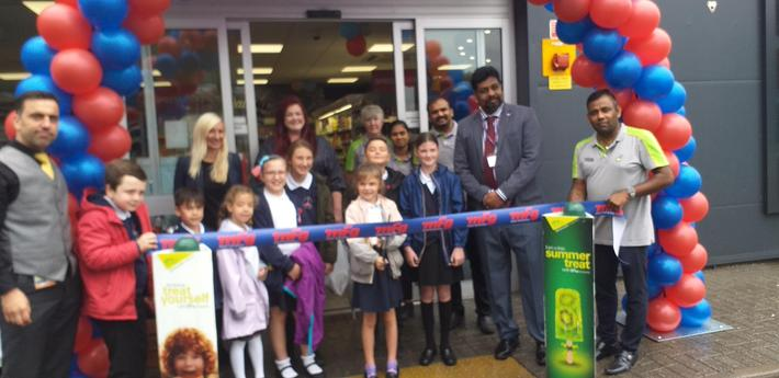 The School Council opened the new Budgens store at the BP garage