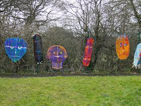 African fence art with Jim Morris.