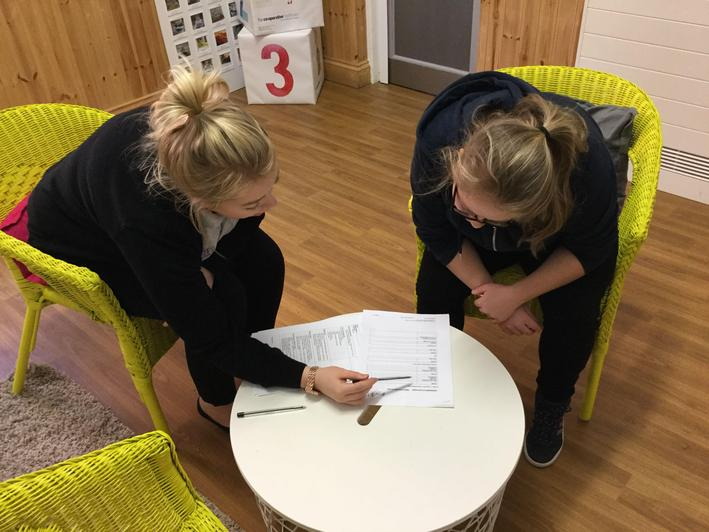 Filling in forms before a nursery placement