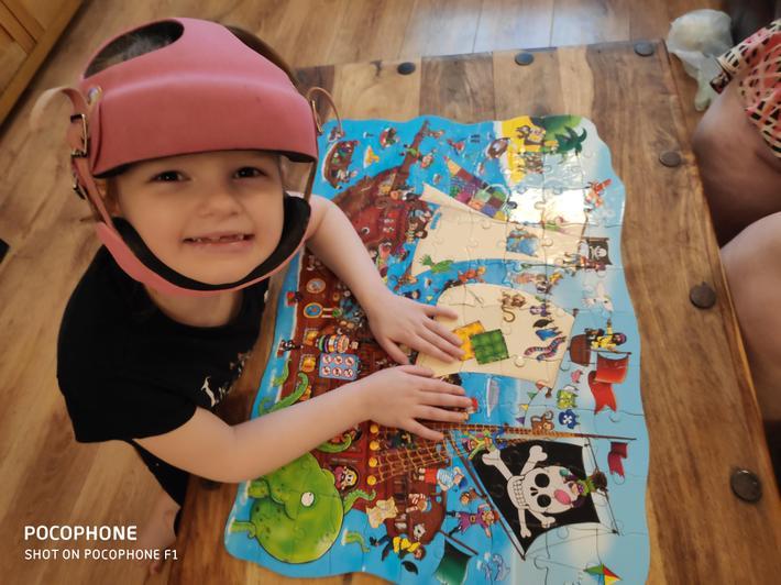 Jasmine finishing puzzles