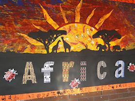 A class display on Africa.