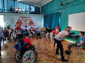 Haka dance workshops with Dance Xchange.