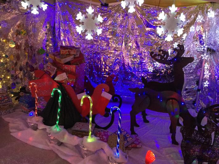 The Grotto is ready for Santa.