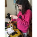 Fleur's binocular making