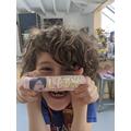 Leon's chocolate bar.