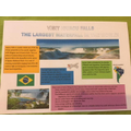 Josh's informative poster on the Iguacu falls!