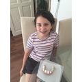 Sabrina's model teeth