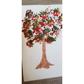 Sami's used paint to create this beautiful tree!