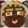 Zoe used the instructions in the video today to make a cake!