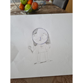 Hannah used the video today to create her portrait