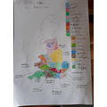 An incredible map drawn and labelled by Jimmy!