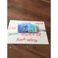 Sabrina's chocolate bar and adjectives.