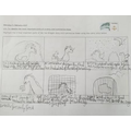 Hanna has been using her summarising skills to create a comic strip in reading.