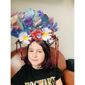 An amazing headdress, all resourced at home!