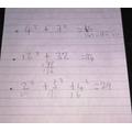 Alfie has been using jottings in maths.