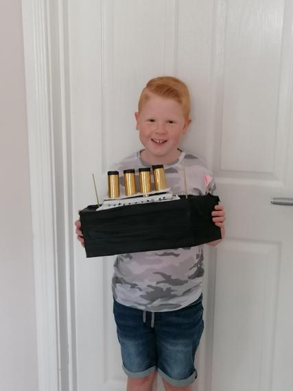 Cameron and his completed model