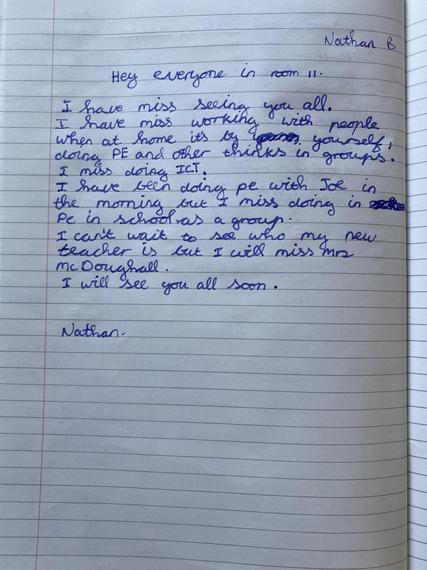 Nathan B's wonderful letter