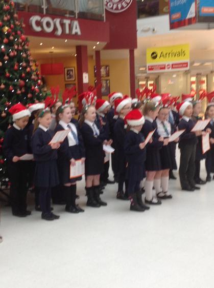 We sang so beautifully at the airport.