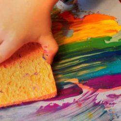 Using a sponge