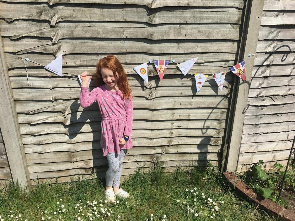 VE garden party Jess Partridge