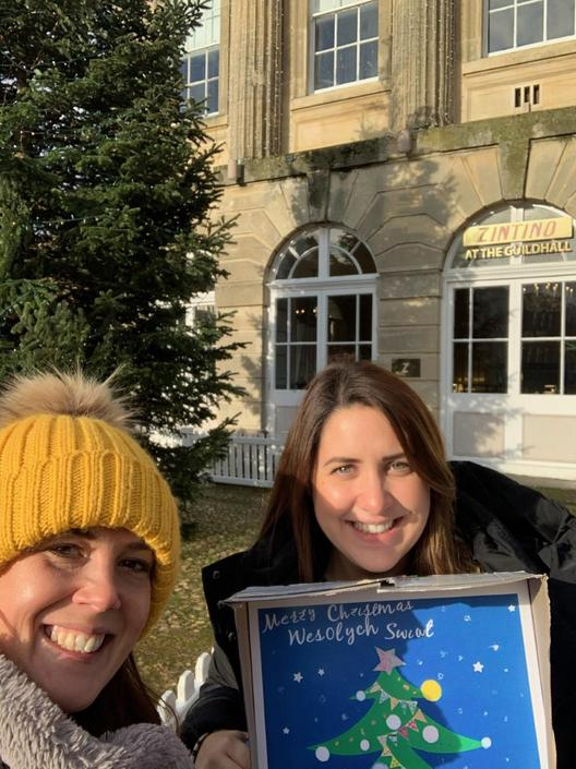 Miss Pearson and Mrs Roach have been out and about hiding the Vigo Christmas poster