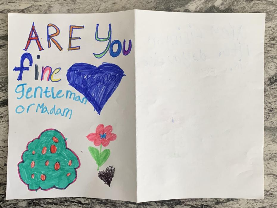 Here is Anaya's card for those at Muriel Street