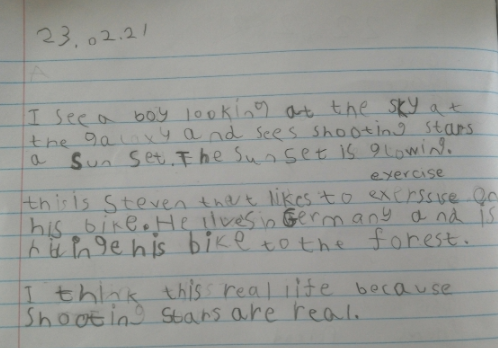 What an imaginative story Ishaan!