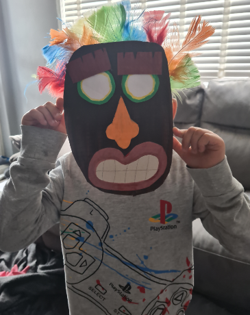Zach has made this brilliant mask for his Art Task