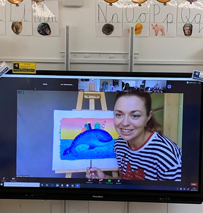 This week in Art we learnt how to paint a whale