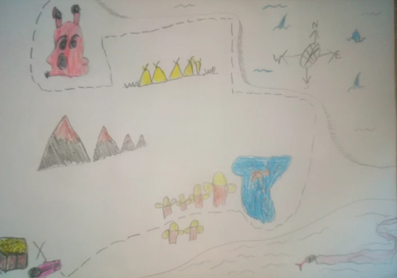 Teddy's Treasure Map from our Topic work is super!