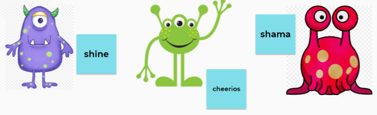 Milena has used her phonics to name her own aliens