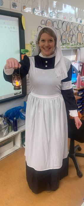 Florence Nightingale came to visit our class!