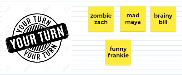 Zach's been working on his alliteration work, wow!