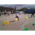 Class 6 planned a sports event for Class 1!