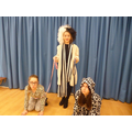 Demi-Deville and her two dalmatians!