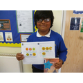 Well done Tharuga from Class 4!