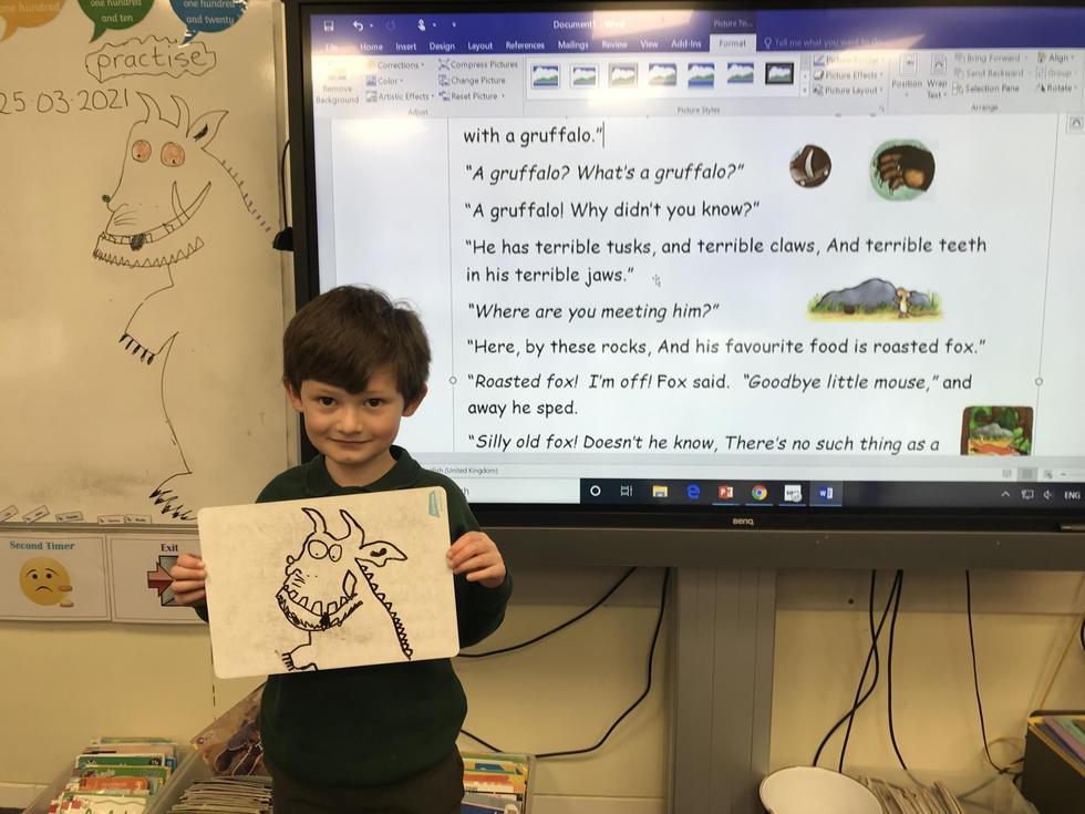 Alex and his Gruffalo drawing