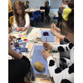Year 6 creating potato book characters