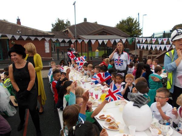 Year 1 enjoying the street party