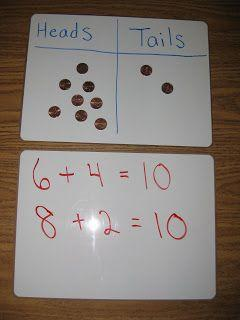 Number bonds using coins
