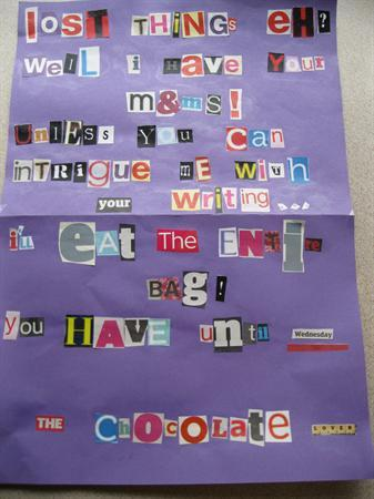 The ransom note!