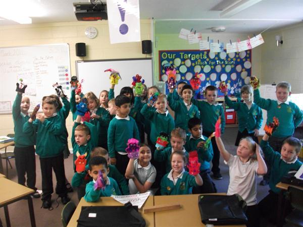 'Give me a Hand' Puppets from our Inspire Day
