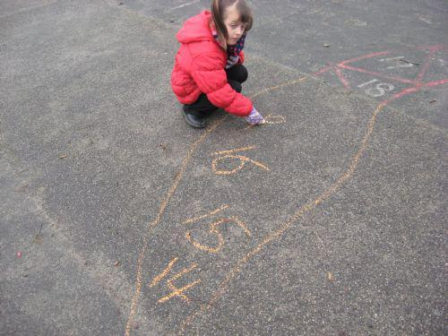 Counting and writing numbers.